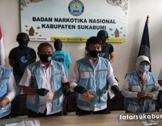 BNNK Sukabumi Bongkar Jaringan Sindikat Narkoba Hingga Pencucian Uang Milyaran Rupiah