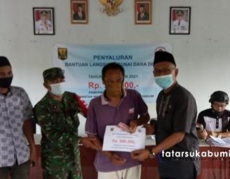 3 Dari 12 Desa Kecamatan Warungkiara Salurkan BLT Sosial Savety Net Dana Desa