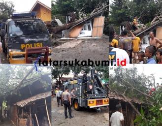 Hujan dan Puting Beliung Terjang Palabuhanratu 79 Rumah Rusak