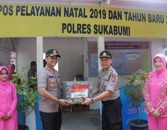 Kapolres Sukabumi Periksa Kesiapan Pos Pam Jelang Perayaan Tutup Tahun di Kawasan Pantai Palabuhanratu