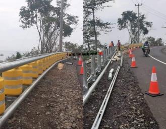 Ridwan Kamil Penuhi Janji Pasang Roller Barrier di Ruas Jalan Geopark Sukabumi