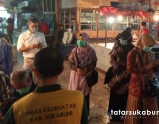 Upaya Pencegahan Penyebaran Covid-19 di Pasar Cisaat Sukabumi