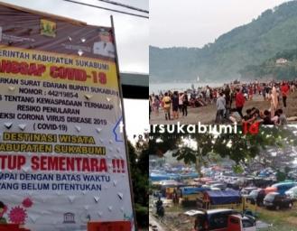 PSBB Parsial Sukabumi Diperpanjang Objek Wisata Ditutup, Faktanya Palabuhanratu Diserbu Wisatawan