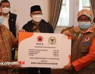Muhaimin Iskandar Tinjau Lokasi Bencana Pergerakan Tanah di Nyalindung Sukabumi