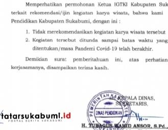 Ada ada Saja! Ditengah Pandemi Guru TK Kabupaten Sukabumi Malah Mau Karya Wisata ke Bekasi