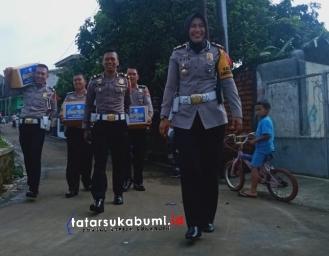 Kegiatan Rutin Satlantas Polres Sukabumi Kota Door to Door Sambangi Warga Sukabumi